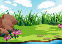Land - stock illustration