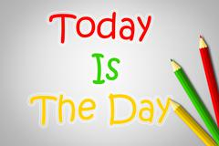 Today is the day concept Stock Illustration