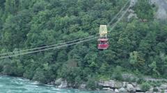 Aero Cable Car in Niagara Falls Stock Footage