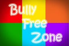 bully free zone concept - stock illustration