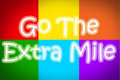 Go the extra mile concept Stock Illustration