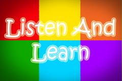 Listen and learn concept Stock Illustration