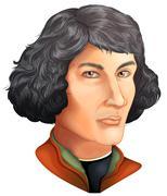 Nicolaus Copernicus - stock illustration