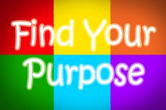 find your purpose concept - stock illustration