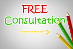 Free consultation concept Stock Illustration