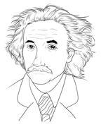 Albert Einstein - stock illustration