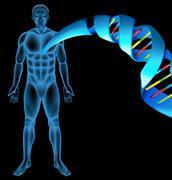 Deoxyribonucleic acid - stock illustration