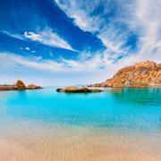 cartagena cala cortina beach in murcia spain - stock photo