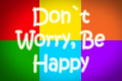 don't worry be happy concept - stock illustration