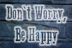 Don't worry be happy concept Stock Illustration