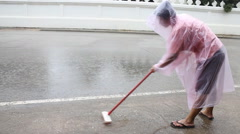Beautiful Mind Of Volunteer Cleaning Public Way HD Stock Footage