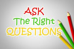 ask the right questions concept - stock illustration