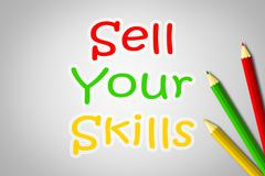 Sell your skills concept Stock Illustration