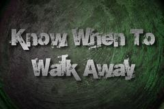Know when to walk away concept Stock Illustration