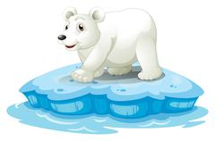 Polar bear - stock illustration