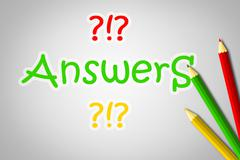 answers concept - stock illustration