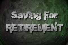saving for retirement concept - stock illustration