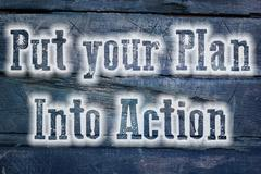 put your plan into action concept - stock illustration