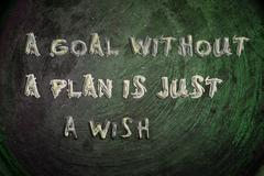 a goal without a plan is just a wish concept - stock illustration