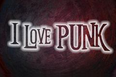 Stock Illustration of i love punk concept