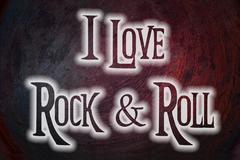 i love rock and roll concept - stock illustration