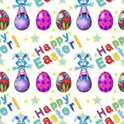 Seamless design for Easter Sunday - stock illustration