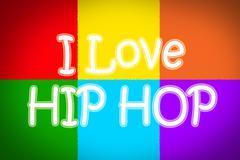 I love hip hop concept Stock Illustration