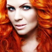 Beautiful sensual girl with red hair Stock Photos