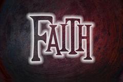 faith concept - stock illustration