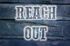 Reach out concept Stock Illustration