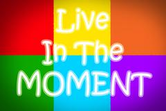 live in the moment concept - stock illustration
