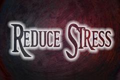 reduce stress concept - stock illustration