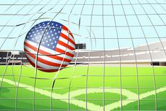 Stock Illustration of A soccer ball with the US flag