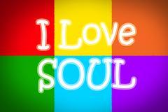 i love soul concept - stock illustration