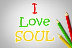 I love soul concept Stock Illustration