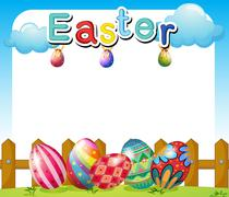 An Easter Sunday template Stock Illustration