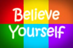 Believe in yourself concept Stock Illustration