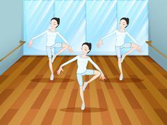 A dance rehearsal inside the studio Stock Illustration
