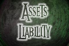 Assets liability concept Stock Illustration