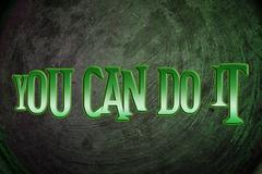 you can do it concept - stock illustration