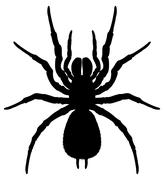 Silhouette of a spider - stock illustration