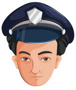 A police officer Stock Illustration