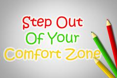 step out of your comfort zone concept - stock illustration