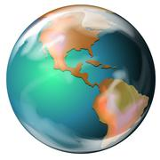 Stock Illustration of Earth - the third planet from the Sun