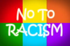 No to racism concept Stock Illustration