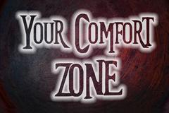 Your comfort zone concept Stock Illustration