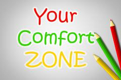 your comfort zone concept - stock illustration
