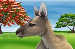 Kangaroo - stock illustration