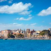Cartagena skyline murcia at mediterranean spain Stock Photos