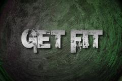 get fit concept - stock illustration